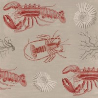 Mind The Gap Wallpaper  - Lobster - Taupe